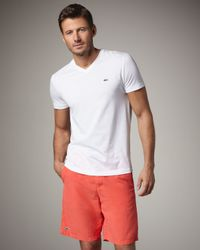 Lacoste | Drawstring Swim Trunks, Orange for Men | Lyst