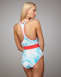 Marc By Marc Jacobs - Blue Reversible Paisley Maillot - Lyst