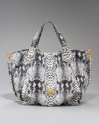 Marc By Marc Jacobs - Black Supersonic Snake-print Francesca Tote Bag - Lyst