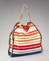 Stella McCartney - Multicolor Striped Falabella Tote - Lyst
