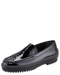 Tod's - Black Winter Gommini Loafer - Lyst