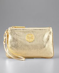 Tory Burch | Metallic Leather Wristlet | Lyst
