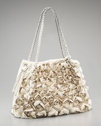 Valentino - White Garden Roses Tote - Lyst