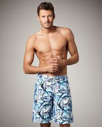 Vilebrequin | Blue Ocean Turtle Boardshorts for Men | Lyst