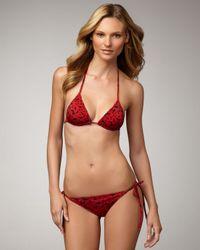 Saint Laurent   Red Printed String Bikini   Lyst