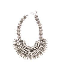 Adia Kibur - Metallic Silver Bib Necklace - Lyst
