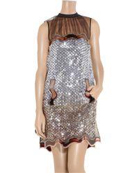Christopher Kane - Metallic Alexa Sequined Tulle Dress - Lyst