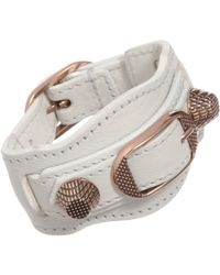 Balenciaga | Pink Arena Giant Rose Gold Bracelet | Lyst