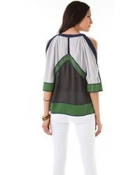 BCBGMAXAZRIA | Green The Kesi Blouse | Lyst