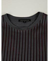 Christopher Kane | Gray Christopher Kane Security Flock Stripe Tee for Men | Lyst