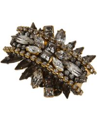 Erickson Beamon - Metallic Crystal Bette Davis Eyes Cocktail Ring - Lyst