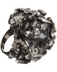 Erickson Beamon - Metallic Crystal Dome Ring - Lyst