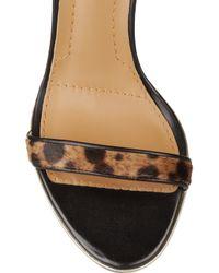 Givenchy   Animalprint Calf Hair Sandals   Lyst