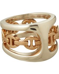 Hoorsenbuhs - Metallic Silver Rose Gold Phantom Ring - Lyst