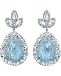 Irene Neuwirth - Metallic Fine Aquamarine Moonstone Diamond Earrings - Lyst