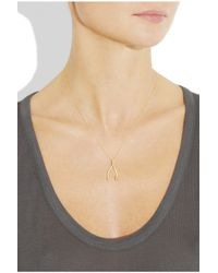 Jennifer Meyer - Metallic 18karat Gold Wishbone Necklace - Lyst