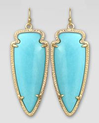 Kendra Scott | Blue Small Skylar Arrow Earrings  | Lyst