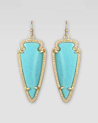 Kendra Scott - Blue Small Skylar Arrow Earrings  - Lyst