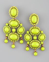 Oscar de la Renta | Yellow Chartreuse Resin Earrings | Lyst