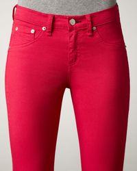 Rag & Bone - Red The Legging Jeans, Magenta - Lyst