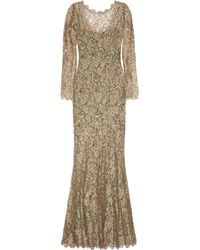 Temperley London - Metallic French Lace Gown - Lyst