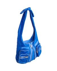 Alexander Wang | Blue Donna Washed Leather Hobo | Lyst