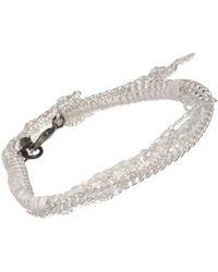 Alyssa Norton - Metallic Braided Silk Multichain Bracelet - Lyst