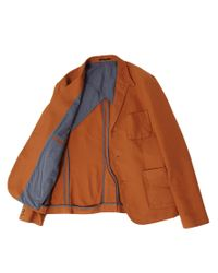 ASOS Brown Slim Fit Blazer in Canvas for men