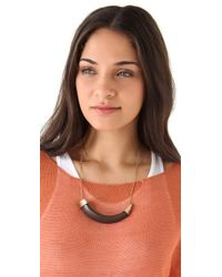 House of Harlow 1960 | Black Horizontal Horn Necklace | Lyst