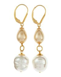 Majorica | Metallic Mixed Pearl Earrings | Lyst
