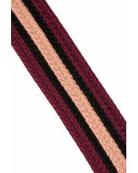 Marni | Purple Leathertrimmed Striped Woven Cotton Belt | Lyst
