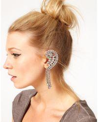 Swarovski | White Asos Rhinestone Ear Cuff with Stones | Lyst