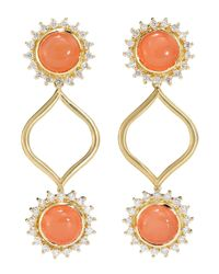 Elizabeth Showers | Orange Marilyn Simon Moonstone Earrings | Lyst