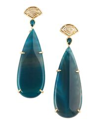 Kendra Scott | Blue Agate Earrings | Lyst