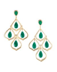 Kendra Scott | Green Kyle Chandelier Earrings | Lyst