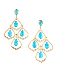 Kendra Scott - Blue Kyle Chandelier Earrings  - Lyst