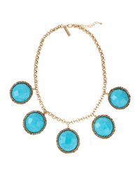 Kendra Scott | Blue Natasha Station Necklace | Lyst
