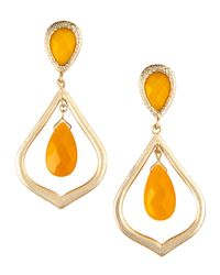 Kendra Scott | Orange Ryne Teardrop Earrings | Lyst