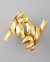 Oscar de la Renta | Metallic Gold Leaf Bracelet | Lyst