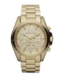 Michael Kors | Metallic Mid-size Bradshaw Chronograph Watch | Lyst
