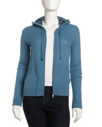 Burberry Brit - Cashmere Hoodie Blue - Lyst