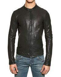 Dolce & Gabbana   Black Nappa Biker Leather Jacket for Men   Lyst