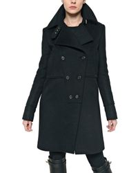 Givenchy - Black Wool Alpaca Cloth Coat - Lyst