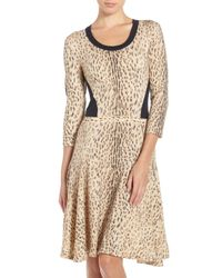 Rachel Roy - Multicolor Cheetah Print Sweater-dress - Lyst