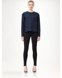 Stella McCartney | Blue Brocade Jacquard Top | Lyst
