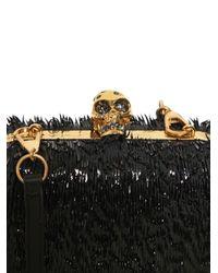 Alexander McQueen | Black Classic Skull Splinter Patent Box Clutch | Lyst