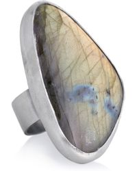 Chan Luu - Metallic Silver Labradorite Ring - Lyst