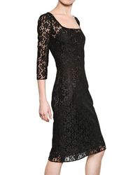 Dolce & Gabbana - Black Cotton Lace Dress - Lyst
