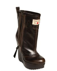 DSquared² - Brown 130mm Leather Low Boots - Lyst
