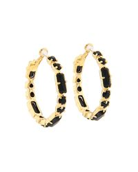 kate spade new york - Black Desert Stone Hoop Earrings - Lyst